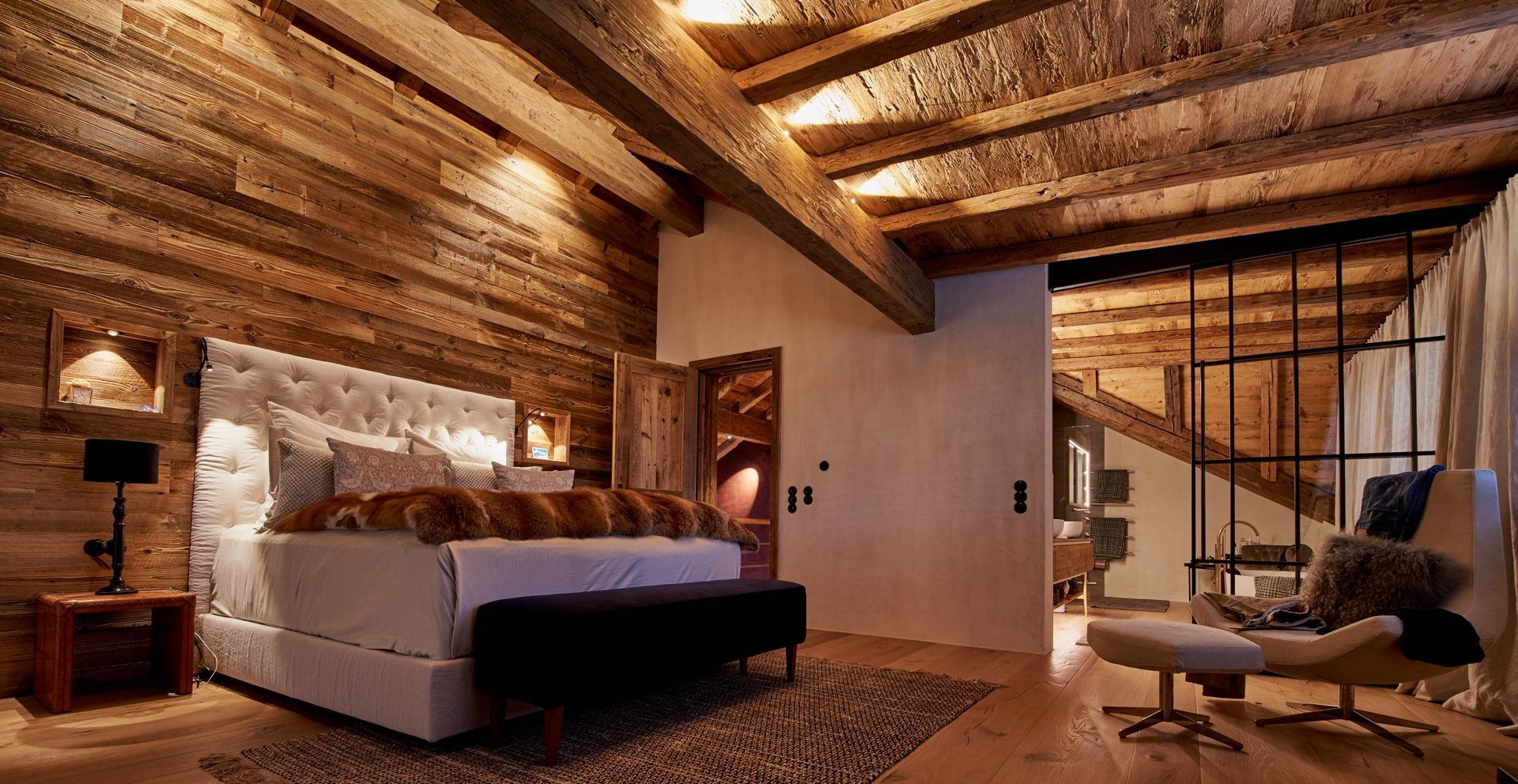LED Beleuchtung für Schlafzimmer im restaurierten Landhaus, Reit im Winkel