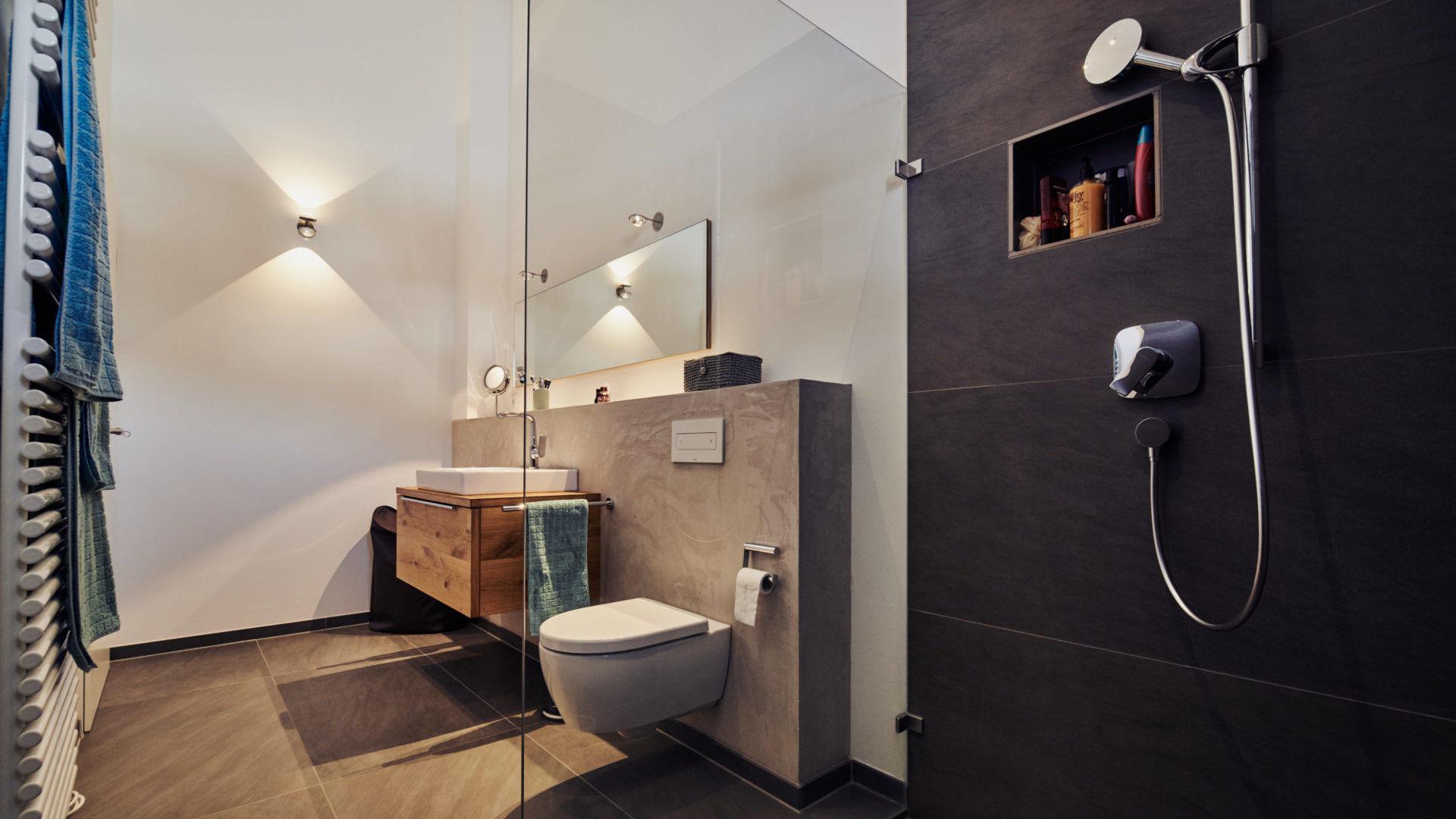 Badezimmer LED Strahler, Appartement München Schwabing