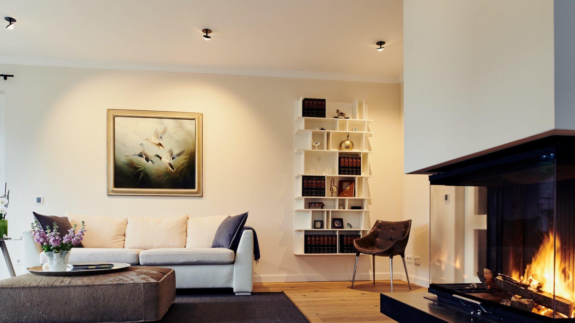 Lichtplanung für Wohnzimmer einer Villa in Traunstein