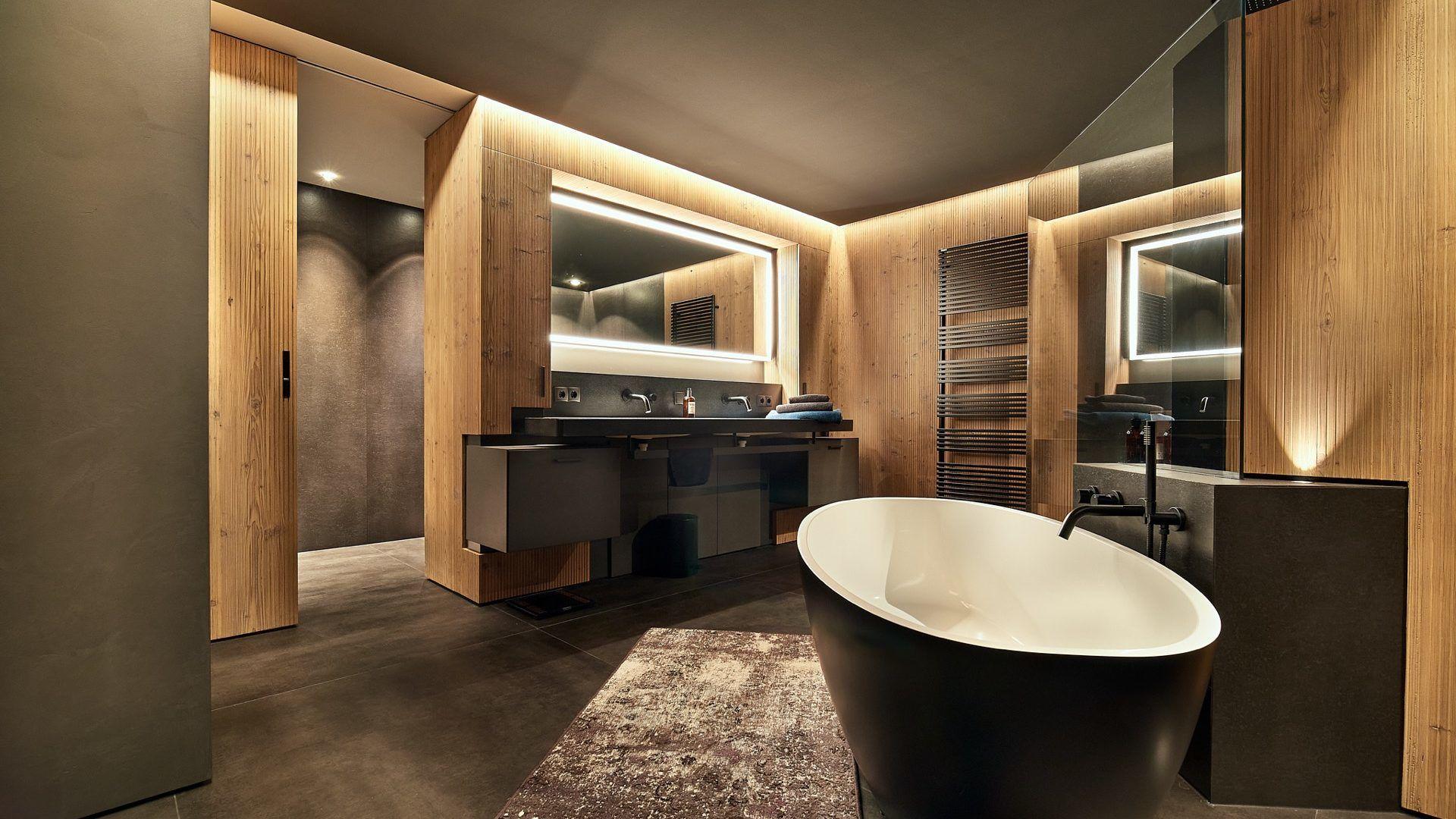 Lichtplanung Badezimmer, privates Einfamilienhaus, Salzburg