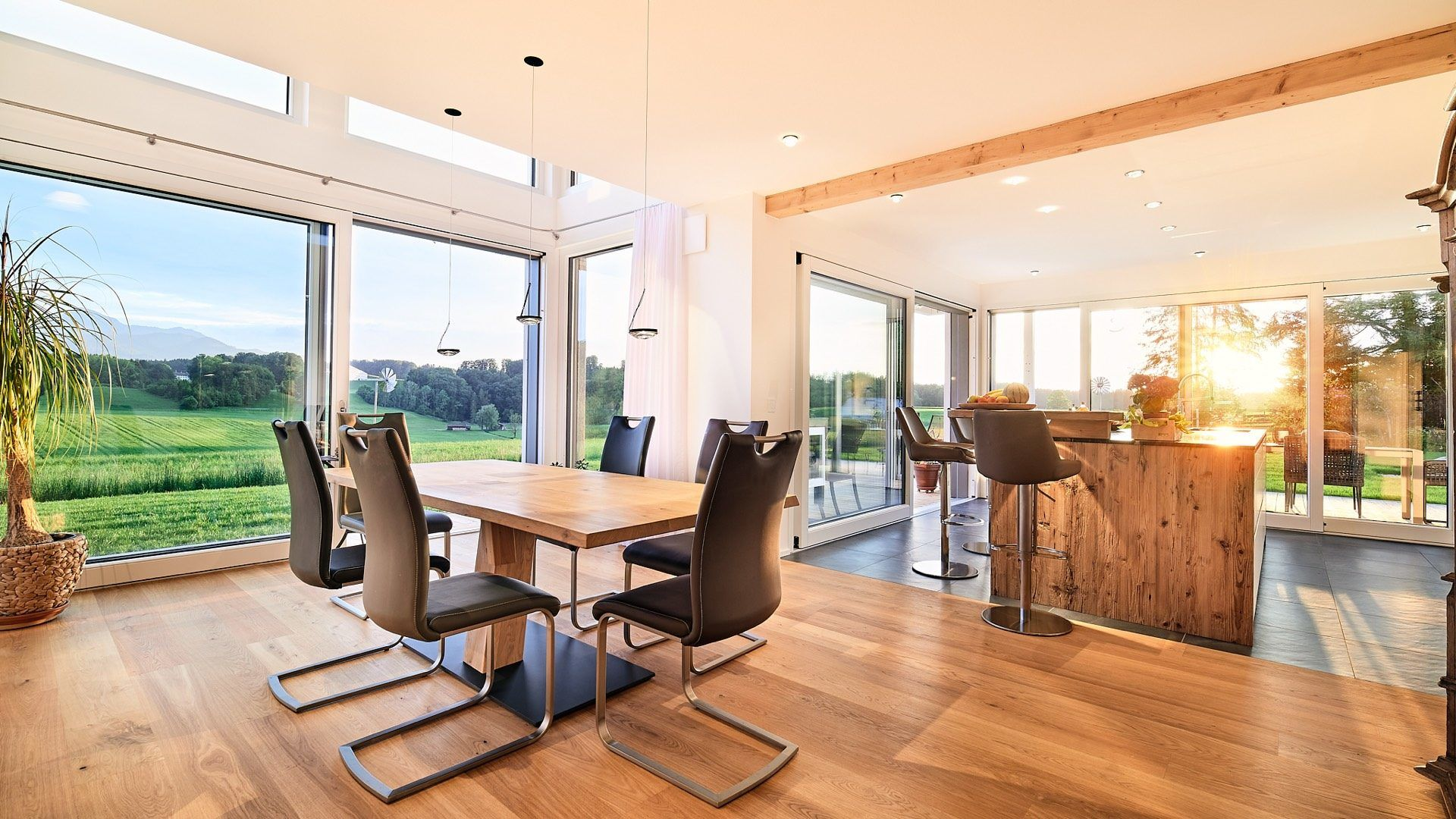 Lichtplanung für offene Küche mit LED-Strahler