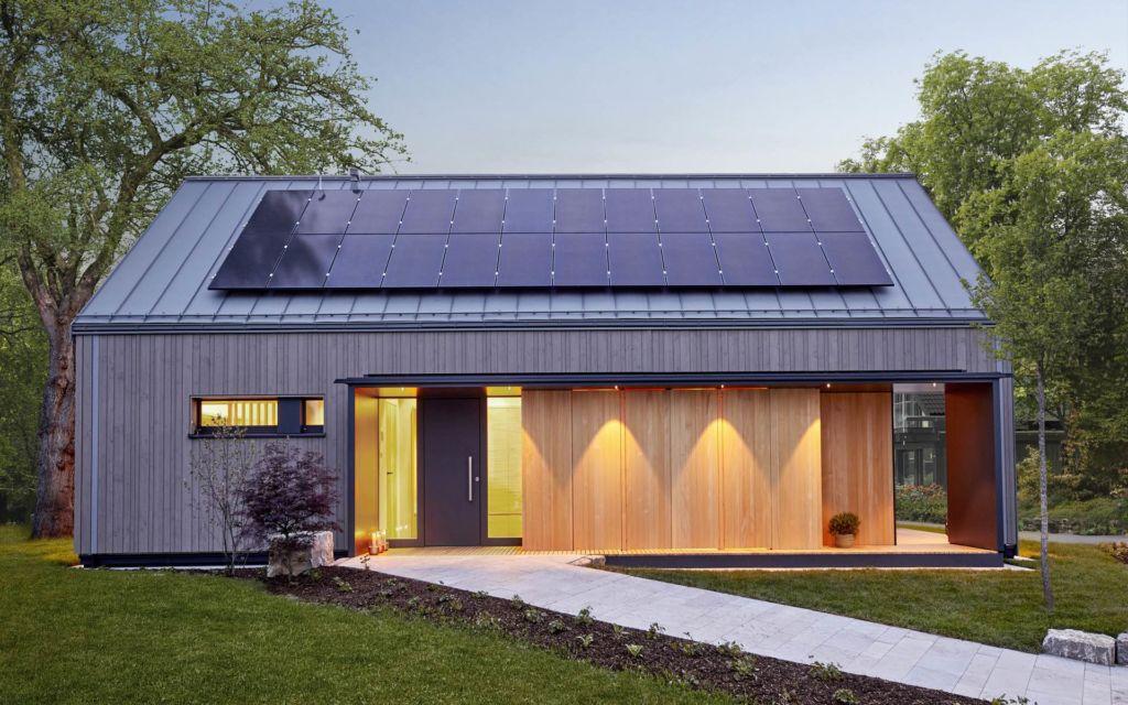 Baufritz Fellbach Freiraum mit Heimatlicht LED-Beleuchtung Eingang Aussenleuchten