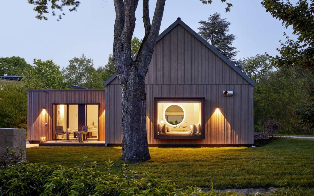 Baufritz Fellbach Freiraum mit Heimatlicht LED-Beleuchtung für Terrasse, Badezimmer, Aussenwand